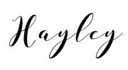 Hayley Name transparent